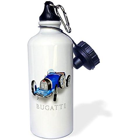 statuear Classic Bugatti auto da corsa in alluminio 20ml 600ml Bottiglia Acqua Sport Regalo