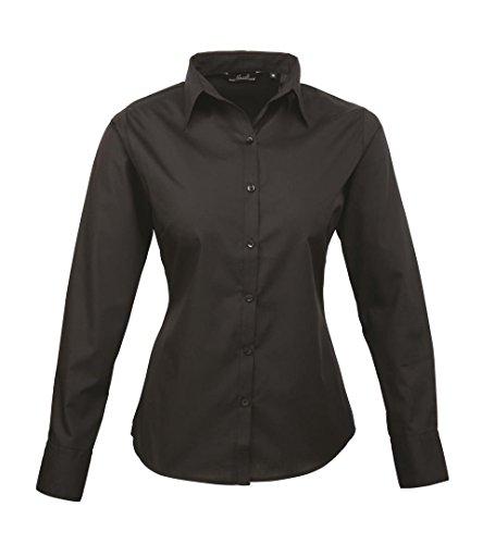 Damen Lange Ärmel Popeline Shirt