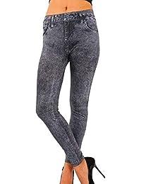 1e0e598c0247a Rinalay Jeans pour Femmes avec Poches Leggings Skinny Bouton Jeans Stretch  Pantalon Mode de Vie Coupe Slim Confortable Pantalon…