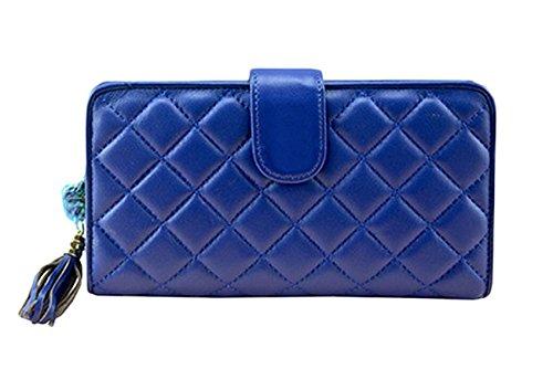 Ms. Portafoglio In Pelle Pacchetto Portafoglio Telefono Portafogli Pacchetto Di Svago Carta Pacchetto Borsa Blue