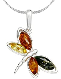 InCollections Women's Pendant 925 Sterling Silver Amber Ladybird 0010200645890