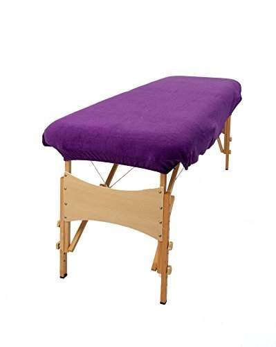 TowelsRus Aztex Classic Value Massage Couch Cover With Face Hole Purple, Stretchy Polycotton by Towelsrus