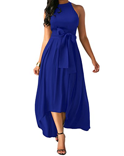 Jacansi Women Elegant High Low Long Dresses Formal Sexy Chiffon Cardigan+Belt+Dress