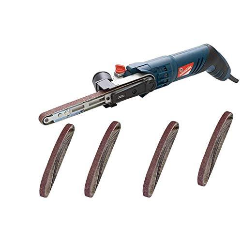 Silverline Silverstorm Power File Belt Sander & 22 Sanding Belts Assorted 13x457mm 40 grit 60 grit 80 grit 120 grit