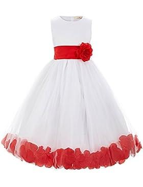 GRACE KARIN Blumenmädchenkleider Prinzessin Bodenlang mit sweet Blumen 10 Size 2-12 Jahre