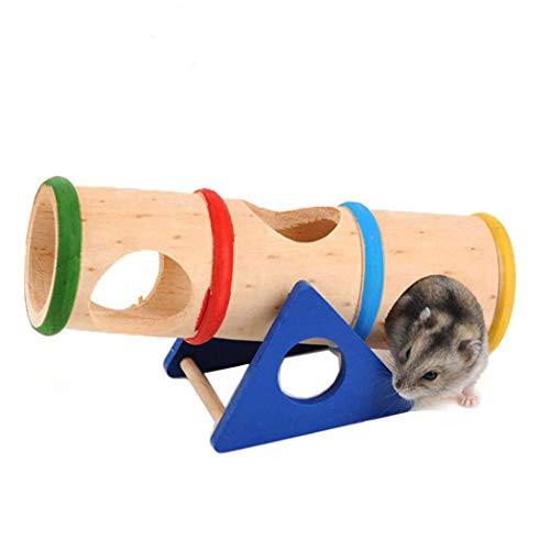 Kostüm Kopf Hamster - Zubehör Schaukel aus Holz, bunt, Seesaw Käfig Haus Verstecken für Hamster Ratten, Mäuse
