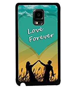 Fuson Premium Love Forever Metal Printed with Hard Plastic Back Case Cover for Samsung Galaxy Note Edge N9150