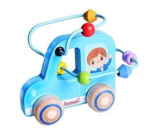 Iwood- Laberinto para Bebé de Madera Infantil: Coche, Multicolor (12011)