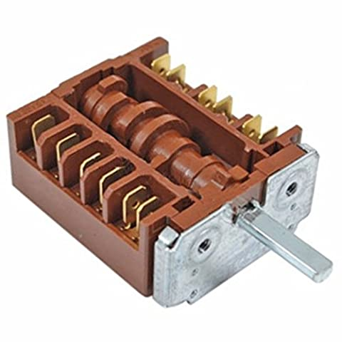 SPARES2GO 6 Position Function Selector Switch for Siemens Hob -