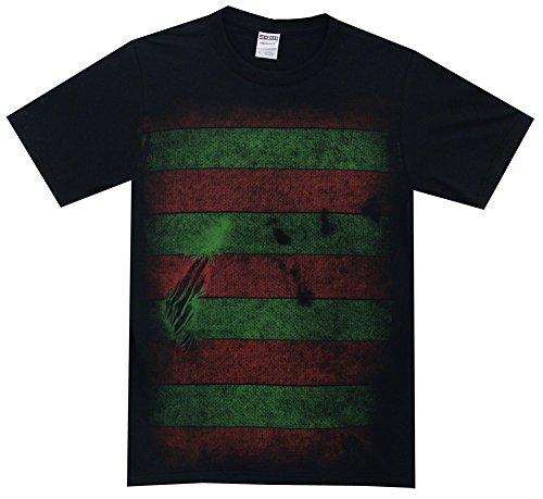 Nightmare on Elm Street Freddy Kreuger Costume Reversible Mask Adult T-Shirt Tee