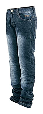 Bores Live Jeans Mens Motor Cycling Shorts, Blue Size 10