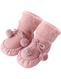 Calcetines Antideslizante Bebe Invierno K-youth Calcetines para Bebé Niñas Niños 0-24 Meses Espesar Zapatos Calcetines Bebé Recién Nacido Unisexo Infantil Niña(Rosa-1, 0-6 meses)