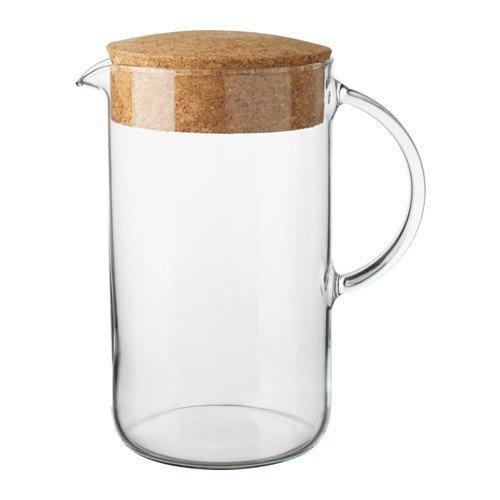 IKEA 365+ Kanne aus Klarglas; mit Kork Deckel; (1,5l)