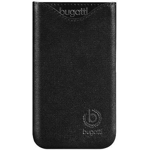 Genuino Bugatti Black Sottile Fit Pelle Custodia Case Cover Bulk Pacchetto Adatto Per Sony Xperia Z5 Compact