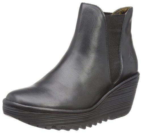Fly London Yoss Rug, Women's Boots - Black, 5 UK (38 EU)