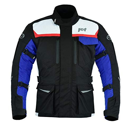 JET Chaqueta Moto Hombre Textil Impermeable con Armadura Aero Cool MERICANA (M (EU 48-50))