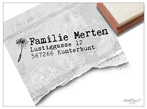 ler Adressstempel Pusteblume I, Familienstempel Personalisiert Adresse Geschenk zum Geburtstag - zAcheR-fineT ()