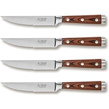 7 tlg Steakmesser Set Steakmesser Steakmesserset Grillmesser Messerblock Messer