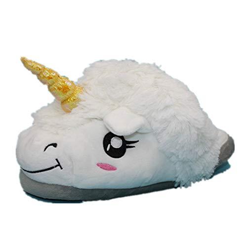 Donad Winterschuhe Plüsch Unicorn Cotton Home für weiße verächtlich warme Innenweihnachtshausschuhe (Schlitten Camo)