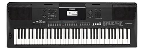 Yamaha PSR-EW410 Digital Keyboard, schwarz - Einsteiger-Keyboard für den ambitionierten Spieler - Mit DJ-Funktionen, leistungsstarkem Verstärker & USB-to-Host-Anschluss