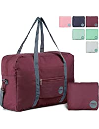 WANDF Foldable Travel Duffel Bag Luggage Sports Gym Water Resistant Nylon f7fd19af207aa