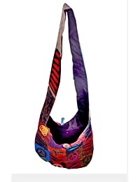 Gaurapakhi Rajasthani Collection And Ethnic Cotton Handmade Handbag With Multicolor For Women's - B07D7HQ9B6
