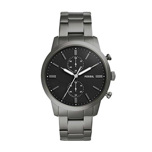 Fossil Herren Analog Quarz Uhr mit Edelstahl Armband FS5349