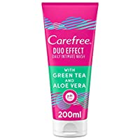 CAREFREE Daily Intimate Wash, Duo Effect with Green Tea and Aloe Vera, 200 ml