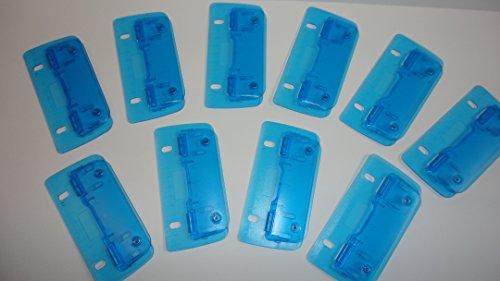 Taschenlocher Transparent Blau 10 Stück mit 12cm Skalierung zum Abheften geeignet