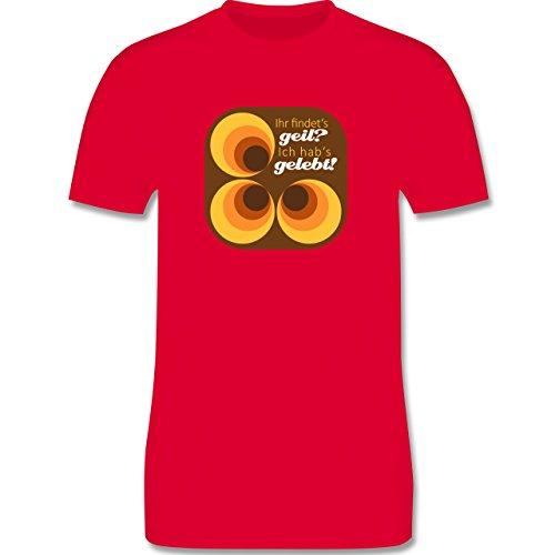 Vintage - Ich hab's gelebt - 70s - Herren Premium T-Shirt Rot
