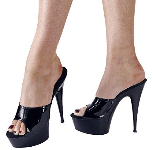 Cottelli Collection Sexy/Monza Hohe Ferse mit Plattform Sandalen Schuhe Schwarz Größe 38 (Ferse-plattform-schuhe)