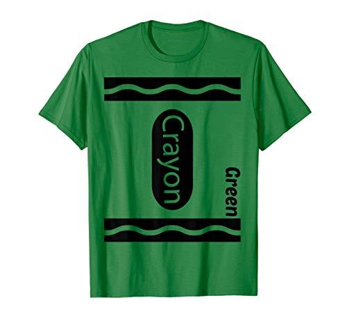 Kid Kostüm Crayon - Grünes Zeichenstift-Halloween-Paar-Freund-Gruppen-Kostüm T-Shirt