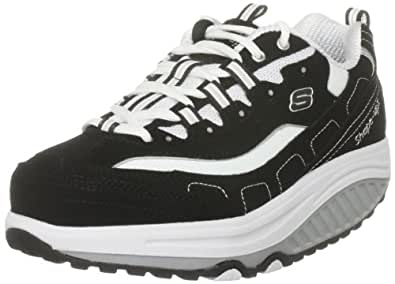 Skechers Women's Shape Ups Strength Walking Shoe Black/ White 11809 BKW 4.5 UK