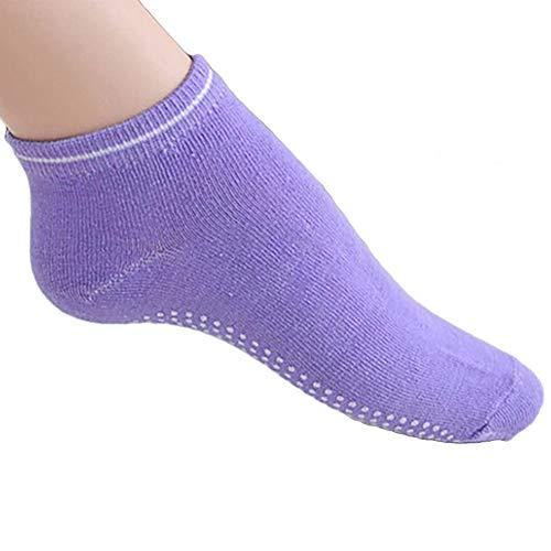 Rowentauk Non Slip Yoga Socken für Frauen, Non Slip Dance Socken Massage Sport Fitness Söckchen Übung Gym Anti-Rutsch-Socken mit Gummi Dots Dance Dot