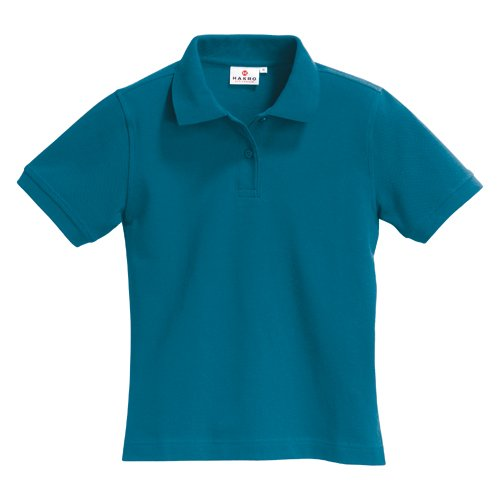 "HAKRO Damen Polo-Shirt ""Top"" 224 - petrol - Größe: L (Damen Polo-top)"