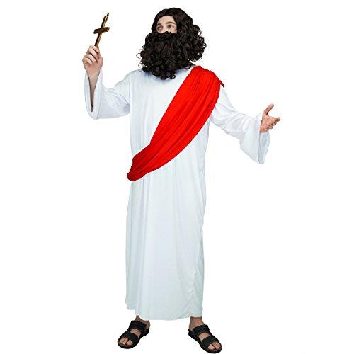 SEA HARE Männer erwachsene Jesus religiöse Kostüm für Weihnachten Heilige religiöse Fancy Dress ()