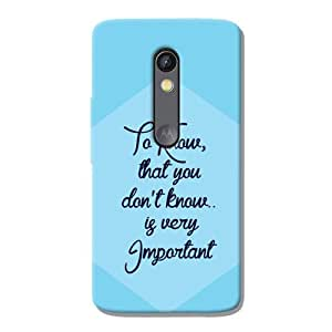 Kaira brand Designer Back Case Cover for Motorola Moto X Play (Know)