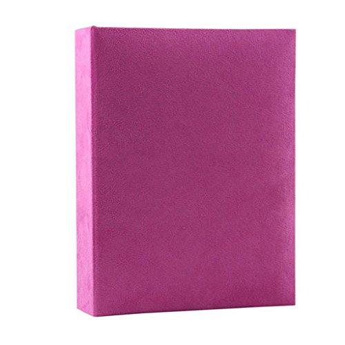FOOHAO- Album de famille de tissu de style simple, Album interstitiel de croissance de bébé, 200 photos -6 '' (photo 6x4 '') (Couleur : Violet)