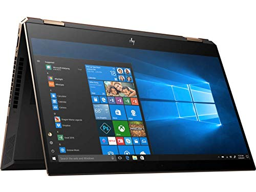 HP Spectre x360 15-df0004nl Notebook Convertibile, Core i7-8750H, 8GB di RAM, SATA da 512, Nvidia GeForce 1050Ti 4GB, Display 15.6 Touchscreen FHD Antiriflesso, Argento cenere