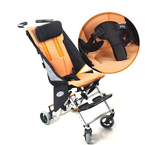 Nayayar Silla de Ruedas, discapacitados Parálisis Cerebral Viajes Silla de Ruedas Aleación de Aluminio Plegado Carro Ligero para niños