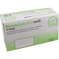 50 Stück Mundschutz Eco 3-lagig mit Nasenbügel mit Ohrenschlaufen TYP I von Medi-Inn (weiß) preisvergleich bei billige-tabletten.eu