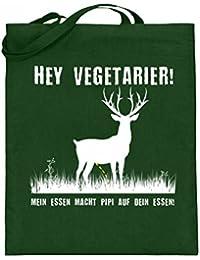 Hey Vegetarier Jäger Jagd Shirt Wildschwein Hirsch Reh Hase Wildbret, Wild,  Fleisch, Jutebeutel c9f3ac5191