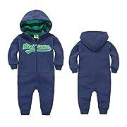 Baby Strampler mit Kapuze Overalls GudeHome Maedchen Jungen Jumpsuit Schneeanzüge Säugling Langarm-Bodysuits Baumwolle Spielanzug