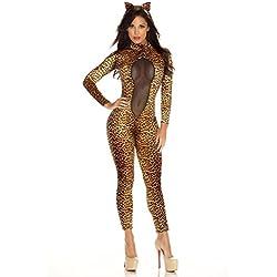 GGTBOUTIQUE - Mono - para Mujer Estampado De Leopardo 36-38