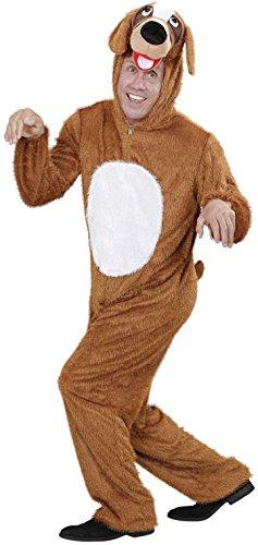 Maskottchen Der Kostüm Hunde - Widmann 9276C - Erwachsenenkostüm Hund, Overall mit Maske