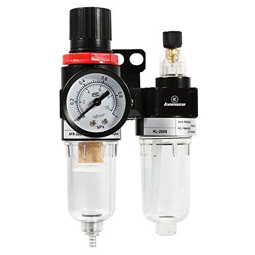Keenso 1/4 zoll Öl Wasserabscheider Falle Luftfilter Druckregler Luft Kompressor Filter mit Öler Cup