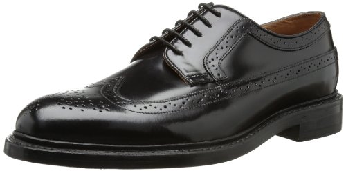Clarks - Scarpe stringate Edward Limit, Uomo, Nero (Schwarz (Black Leather)), 7.5 UK G / 41.5 EU