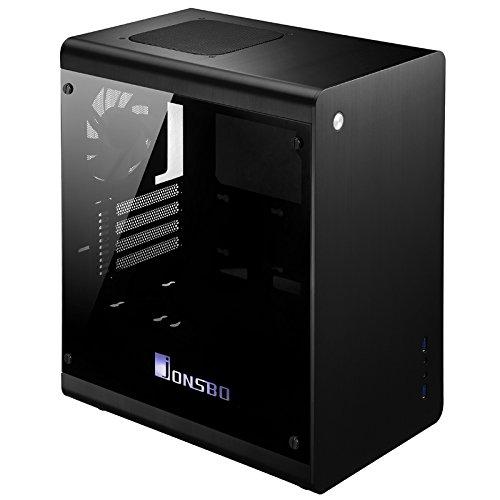 Cooltek RM3Mini-Tower schwarz–Computer Fällen (Mini-Tower, PC, Aluminium, 1x 120mm, Oben, 1x 140mm)