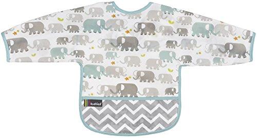 Kushies Cleanbib - Babero con mangas 12-24m - Elefantes