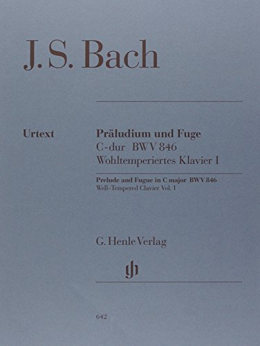 Prelude and Fugue C major  BWV 846 - (from the Well-Tempered Clavier part I) - piano - (HN 642) par Johann Sebastian Bach